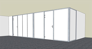 LUZIO - Double panel with hinged swing door