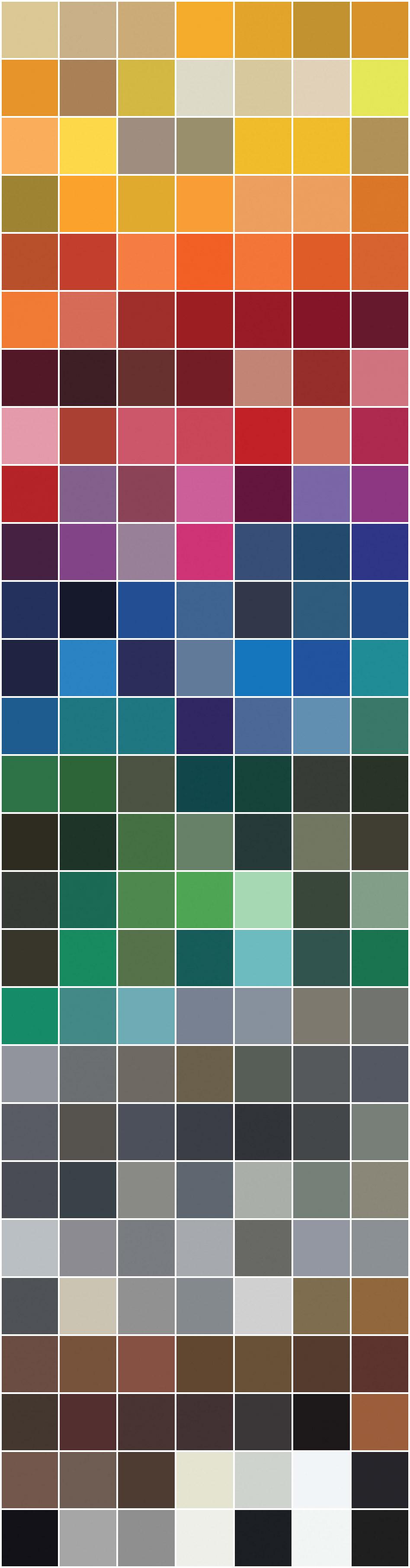 Aluminum Paint Colour Chart - Extanza