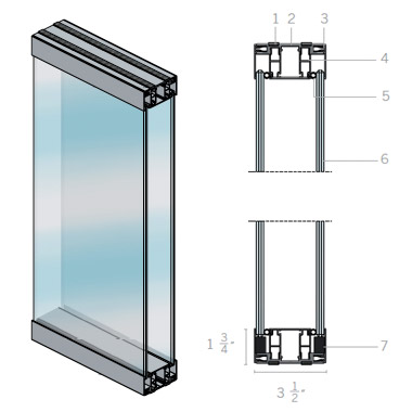 Extanza Double Glass Partition