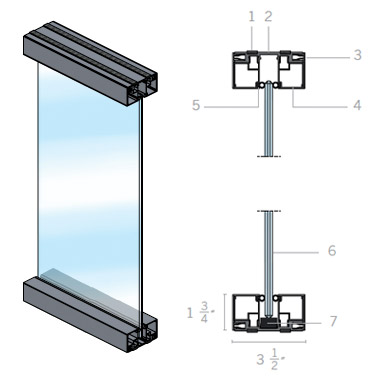 Extanza Centered Glass Partition