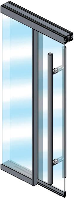 Extanza Double Glass Sliding Door