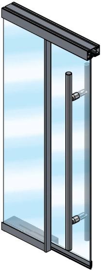 Extanza Single Glass Sliding Door
