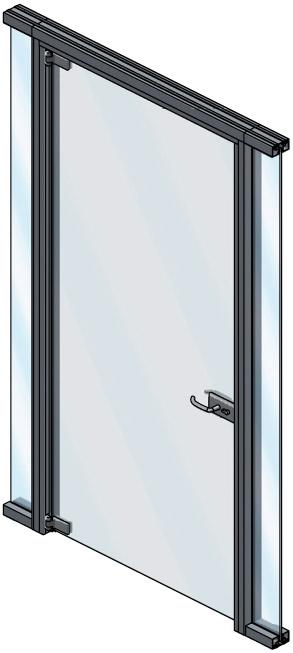 Porte de verre battante Extanza