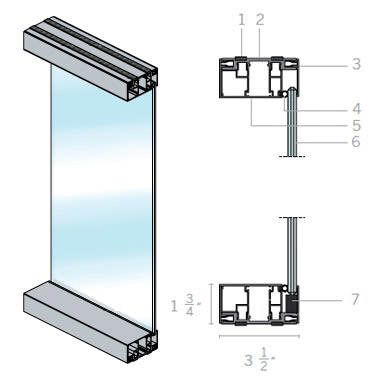 Extanza Offset Glass Partition